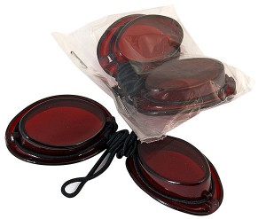 Ståsolarium ögonskydd med snodd