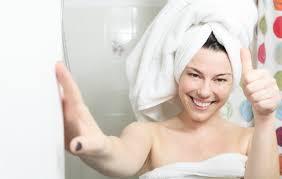 duscha innan solarium