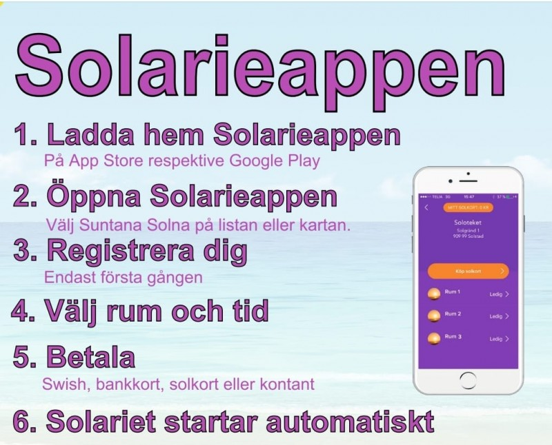 Suntana Drop-In solarium Solna - Solarieappen