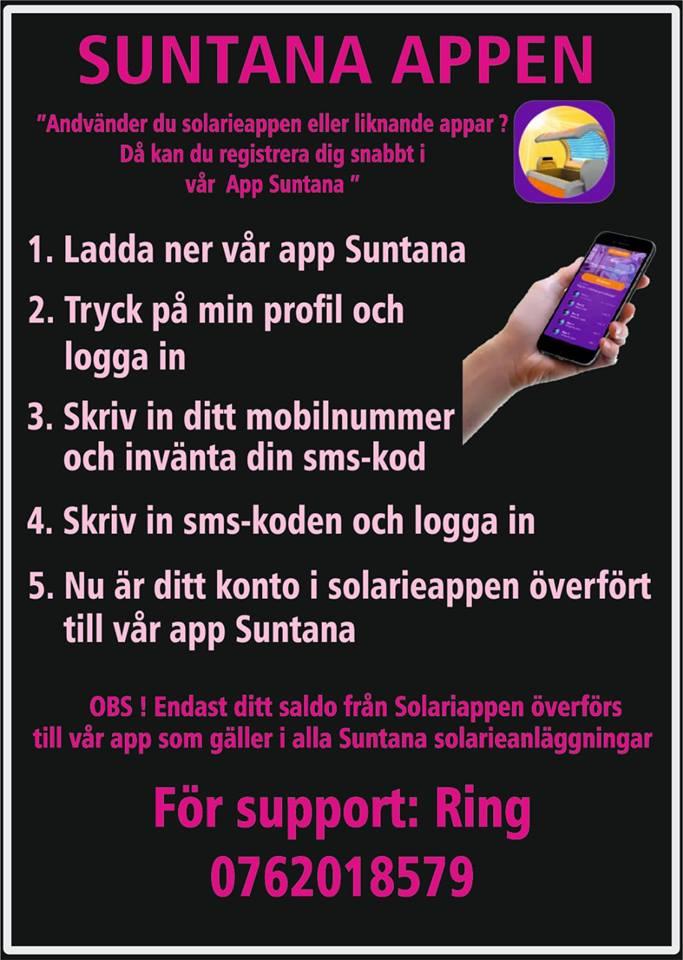 Vår betalapp Suntana har lanserats - ladda ned appen och sola solarium!